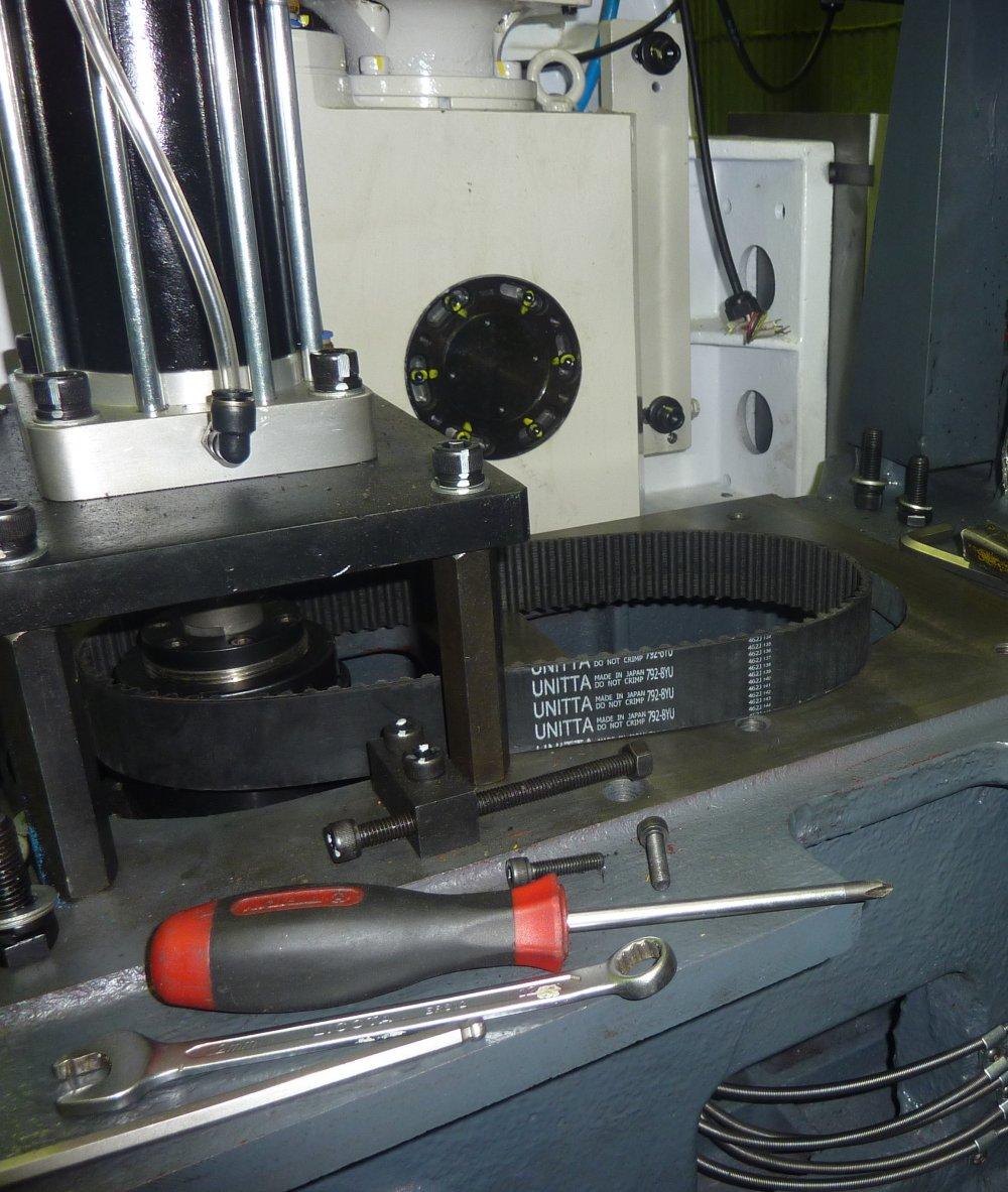 Подготовка к установке мотора шпинделя